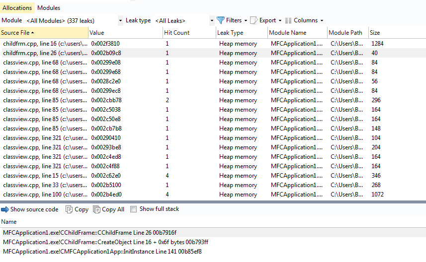 C++ Memory Leak Detection Tool - with or without Visual Studio