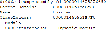 WinDBG dumps assembly