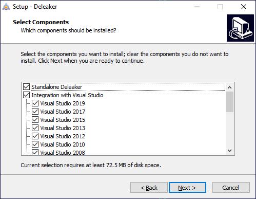 Memory analyzer installer for Visual Studio