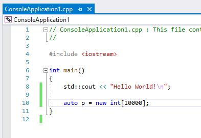 A memory leak in C++